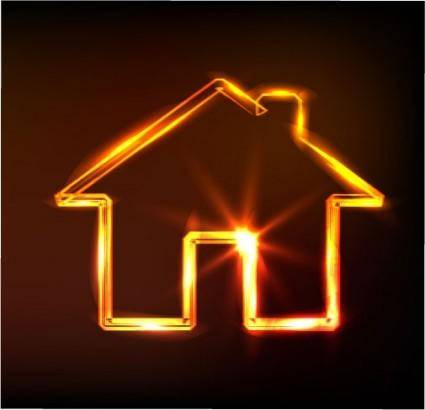 Glare small house vector