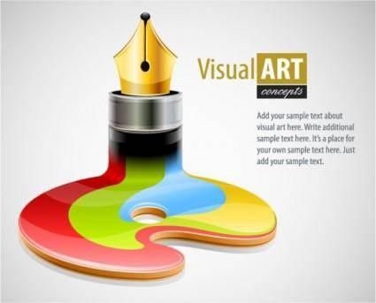 Special theme of vector 4 pen