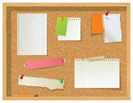 free vector 1 vector bulletin board