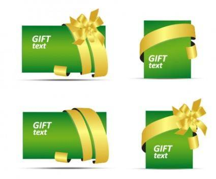 free vector Gift card vector
