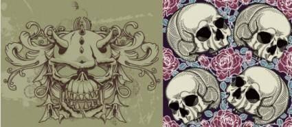 Trend skull theme vector