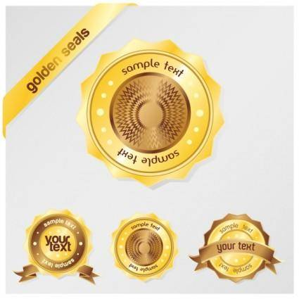 free vector Gold sales tag vector