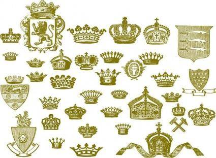 free vector European crown series vector
