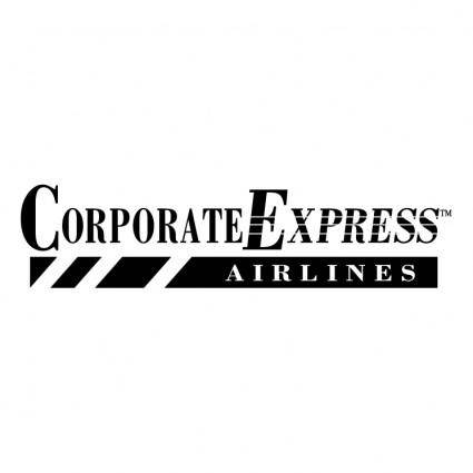 free vector Corporate express airlines