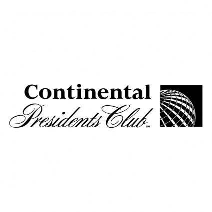 free vector Continental presidents club
