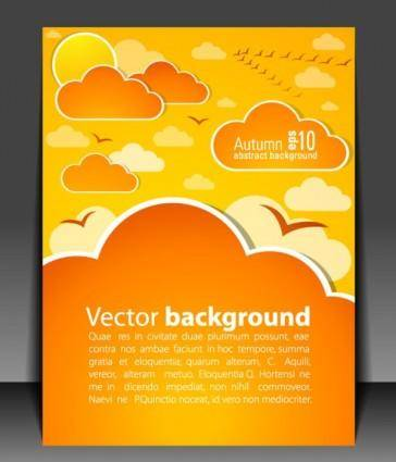Weather effects card 04 vector