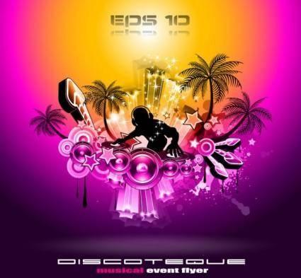 Brilliant dynamic musical elements 02 vector