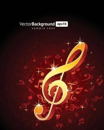 free vector Theme music notes vector 5
