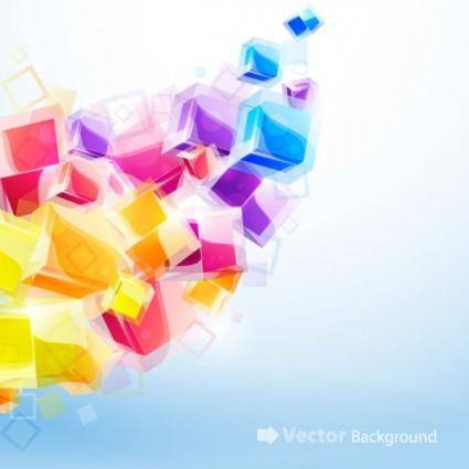 free vector Dynamic brilliant 3d stereo effects figure 03 vector