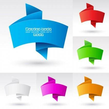 Beautiful vector graphics 3 origami