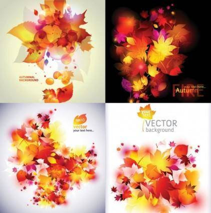 Dream of autumn leaves vector