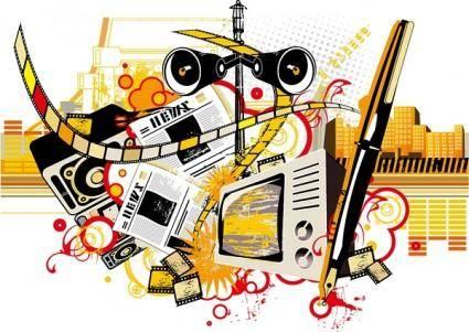 free vector News theme vector