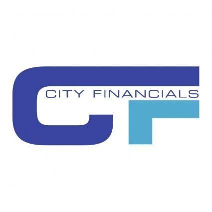 free vector City financials
