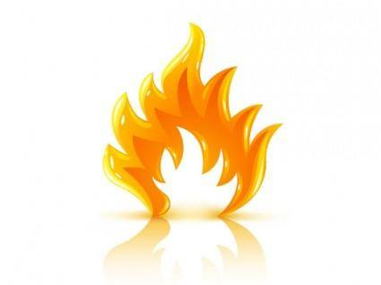 free vector Cool threedimensional flame vector