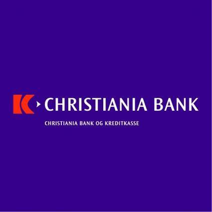 free vector Christiania bank