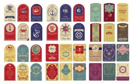 free vector Nostalgic european label vector