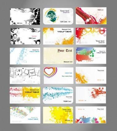 Fine card 01 vector