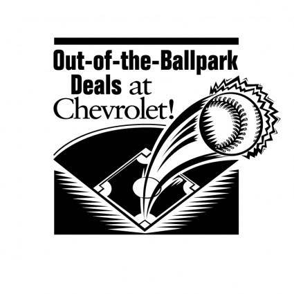 free vector Chevrolet out of the ballpark deals