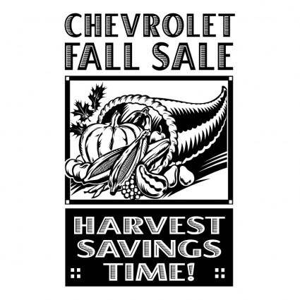 free vector Chevrolet fall sale