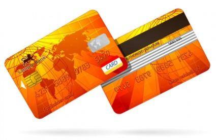 Bank card fine 03 vector