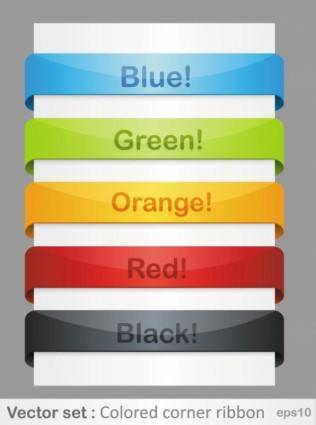 Color of the ribbon 01 vector