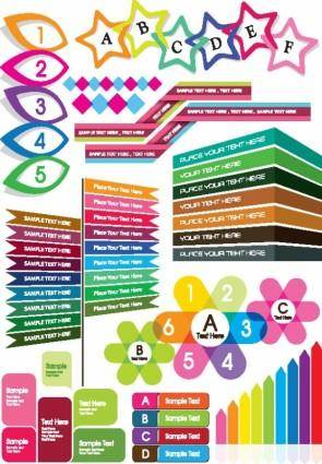 free vector Colorful decorative graphics vector 4