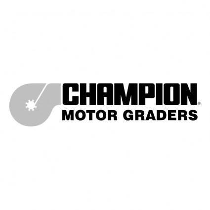 Champion motor graders