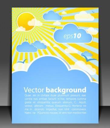 Weather effects card 01 vector