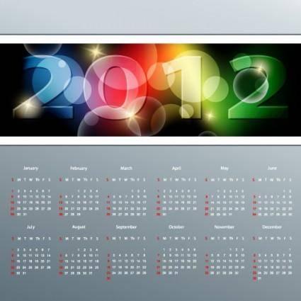 free vector 2012 calendar 03 vector