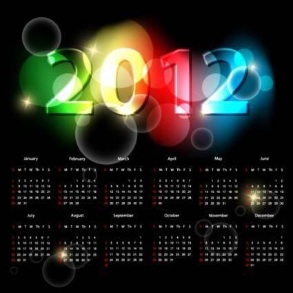 2012 calendar 04 vector