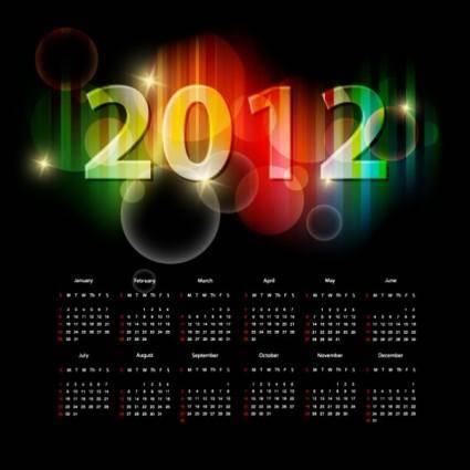 free vector 2012 calendar 05 vector