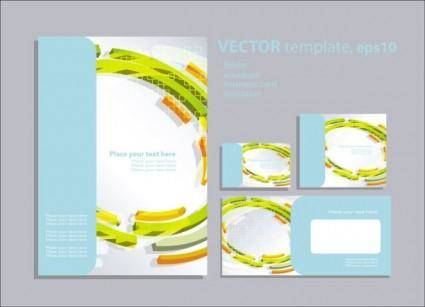 Foreign book design 01 vector