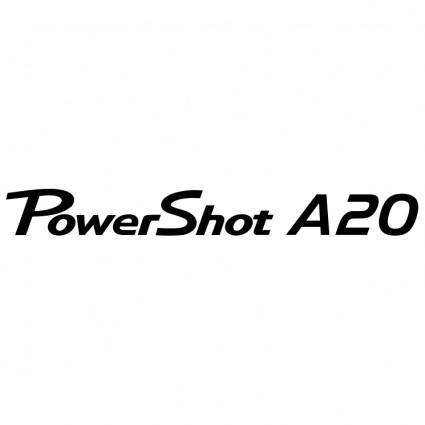 free vector Canon powershot a20