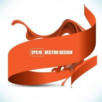Flowing pigment 03 vector