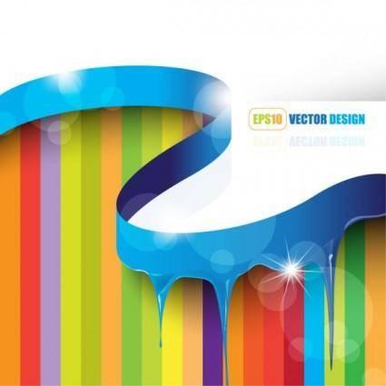 Flowing pigment 05 vector