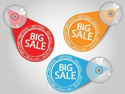 free vector Special sales discount graphic design vector 3