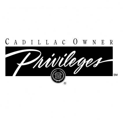 free vector Cadillac owners privileges