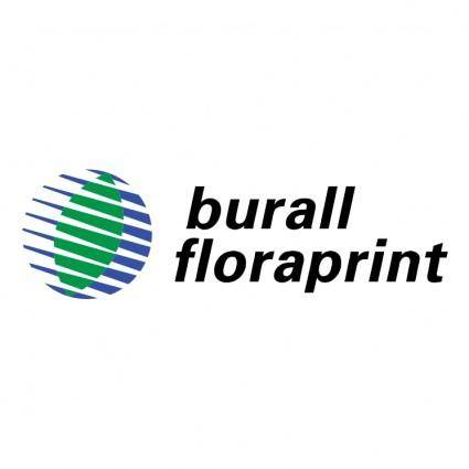 free vector Burall floraprint