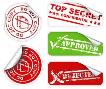 free vector Fine grinding marks tag 01 vector