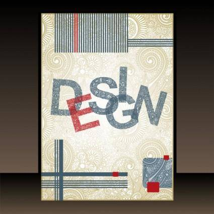 Classic book cover design 03 vector