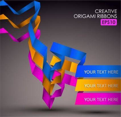 free vector Beautiful color of typesetting 05 vector