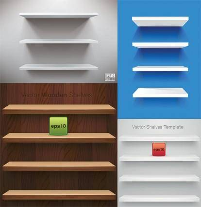 free vector Vector display of shelf space