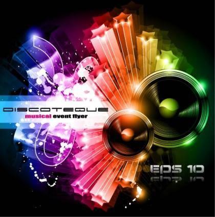 Brilliant dynamic musical elements 01 vector