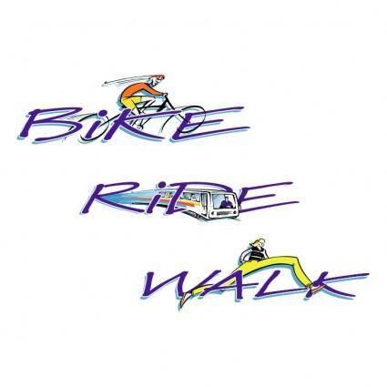 free vector Bike ride walk