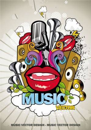 free vector Trend of music posters 02 vector