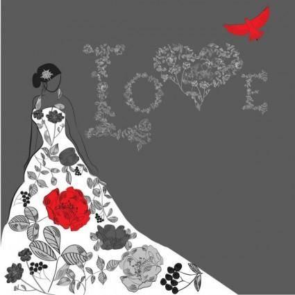Beautiful handpainted fashion illustrator 03 vector