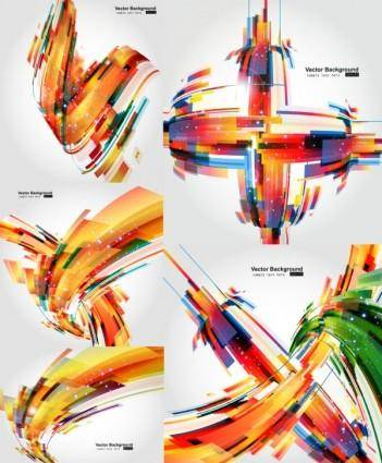Colorful dynamic graphics vector 736