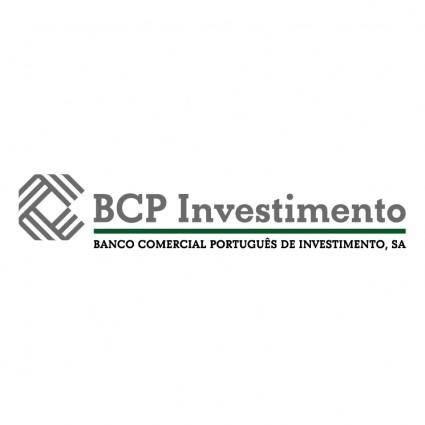 free vector Bcp investimento