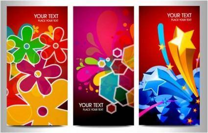 free vector The trend of dynamic graphics card brilliant 02 vector