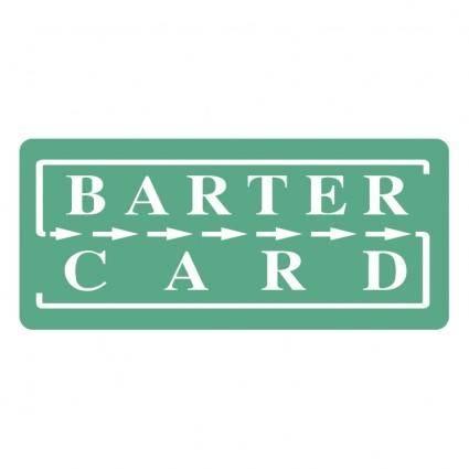 free vector Barter card